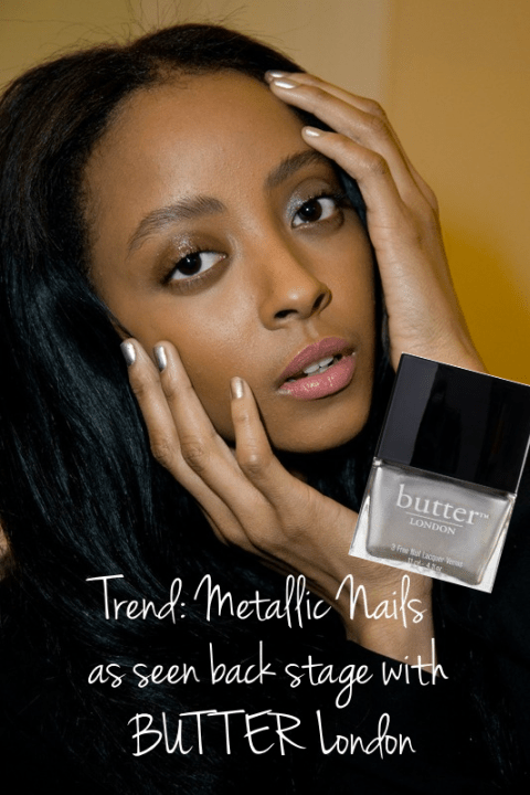 Metallic nail polish trend from Butter London