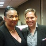 Tracey Brown and John from Dr. Dennis Gross at Nordstrom Beauty Blush Hour May 30