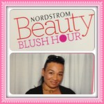 Tracey Brown at Nordstrom Beauty Blush Hour after makeup