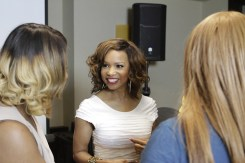 Elise Neal (Scandal, CSI, The Hughleys) crowd interaction Strength of Nature Tress Talk Beauty Brunch