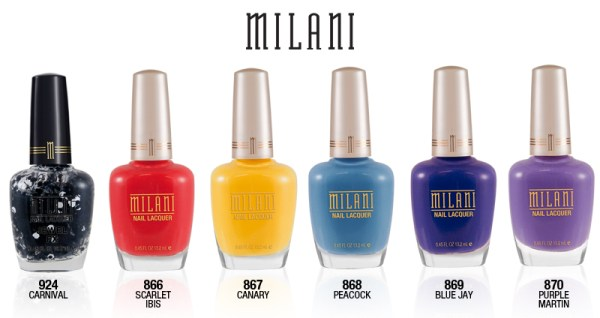 Milani limited edition nail polish collection FANTASTICAL PLUMAGE LINEUP