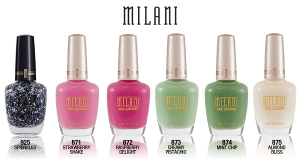 Milani limited edition nail polish collection RETRO-GLAM-LINEUP
