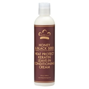 Nubian Heritage Honey and Black Seed Heat Protect Keratin Leave-In Conditioning Cream