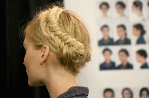 Rebecca Minkoff Hair backstage sping summer new york fashion week 2014 Side-Back