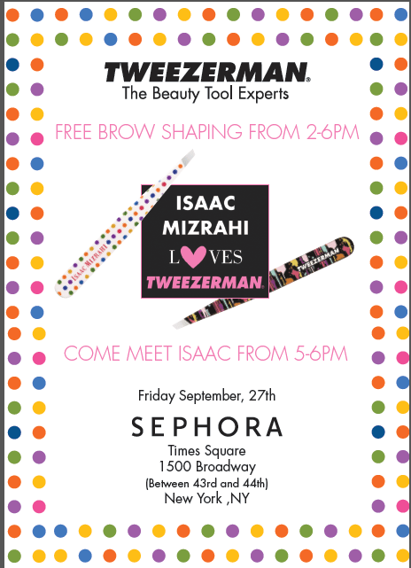 tweezerman Isaac Mizrahi event Sephora Times Square September 27, 2013