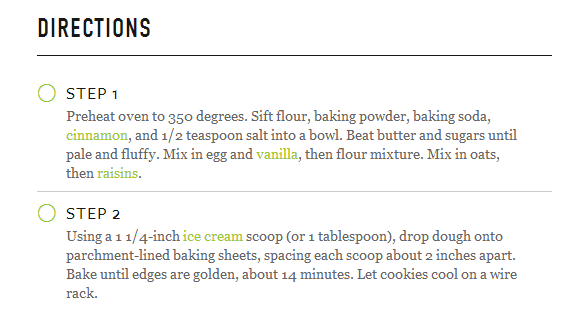 oatmeal cookie directions