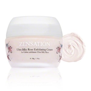 zensation rose exfoliating cream