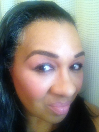 Tracey wearing Lancôme Blush Subtil Blush & Go Trio in Ménage á Trois in Kissed for product review