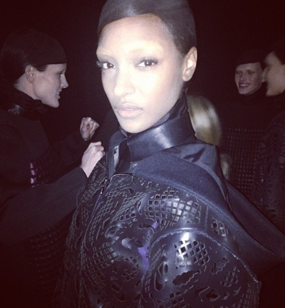 Jourdan Dunn Alexander Wang makeup by NARS