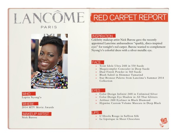 Lupita makeup look by Lancome