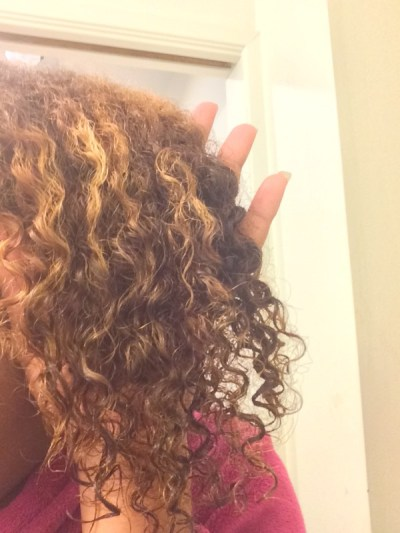 My Honey Child Coconut Hair Milk applied after washing hair
