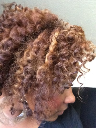 My Honey Child Coconut Hair Milk after a twist out