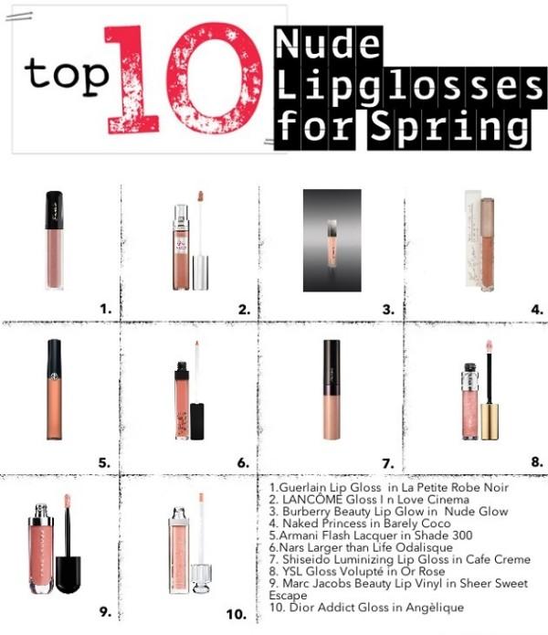 nude lipglosses