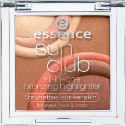 essence sun club bronzer highlighter in brunette