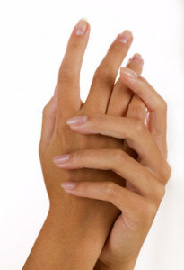 Closeup of a woman's hands