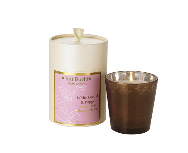 White Orchid & Poppy Holiday Candle