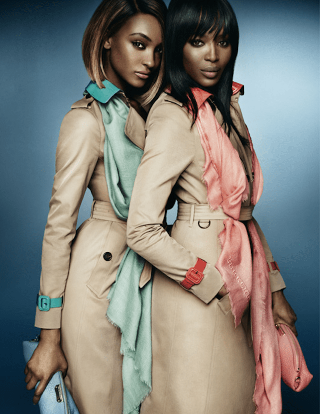naomi campbell jourdan dunn burberry spring 2015 ad campaign