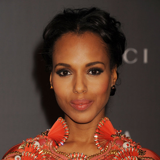 Kerry Washington coral lipstick