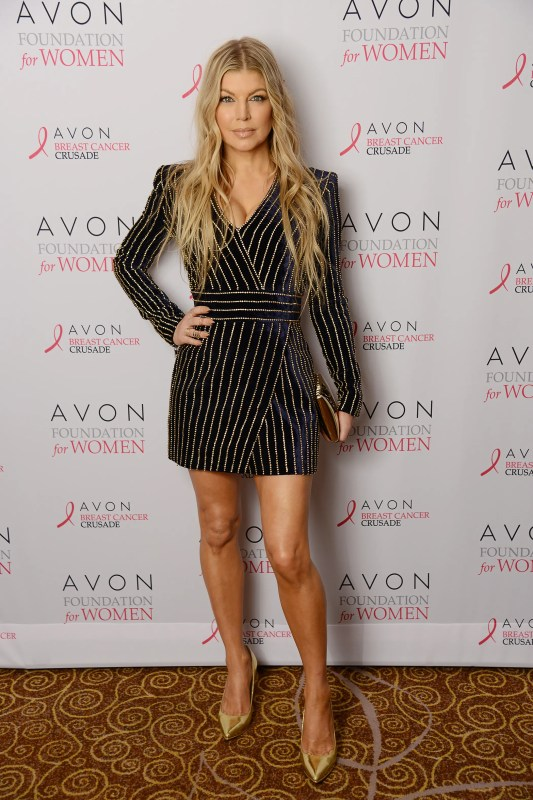 - New York - NY - 10/16/2015 - Global Brand Ambassador Fergie attends the Avon Foundation for Women's annual Tribute Reception, the Breast Party of the Year, which celebrated Avon's commitment to improving the lives of women globally. The event featured #BeABreastFriend, a new campaign launched for Breast Cancer Awareness Month which encourages women to support one another's breast health. -PICTURED: Fergie -PHOTO by: Alex Oliveira/startraksphoto.com -AOH_2846.JPG Startraks Photo New York, NY For licensing please call 212-414-9464 or email sales@startraksphoto.com Startraks Photo reserves the right to pursue unauthorized users of this image. If you violate our intellectual property you may be liable for actual damages, loss of income, and profits you derive from the use of this image, and where appropriate, the cost of collection and/or statutory damages. Image may not be published in any way that is or might be deemed defamatory, libelous, pornographic, or obscene. Please consult our sales department for any clarification or question you may have.