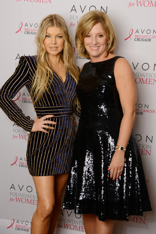 - New York - NY - 10/16/2015 - Global Brand Ambassador Fergie and Avon Products, Inc. CEO Sheri McCoy attend the Avon Foundation for Women Tribute Reception in New York City, which celebrated top AVON 39 fundraisers and the Avon Breast Cancer Centers of Excellence. -PICTURED: Fergie, Sheri McCoy -PHOTO by: Alex Oliveira/startraksphoto.com -AOH_2916.JPG Startraks Photo New York, NY For licensing please call 212-414-9464 or email sales@startraksphoto.com Startraks Photo reserves the right to pursue unauthorized users of this image. If you violate our intellectual property you may be liable for actual damages, loss of income, and profits you derive from the use of this image, and where appropriate, the cost of collection and/or statutory damages. Image may not be published in any way that is or might be deemed defamatory, libelous, pornographic, or obscene. Please consult our sales department for any clarification or question you may have.
