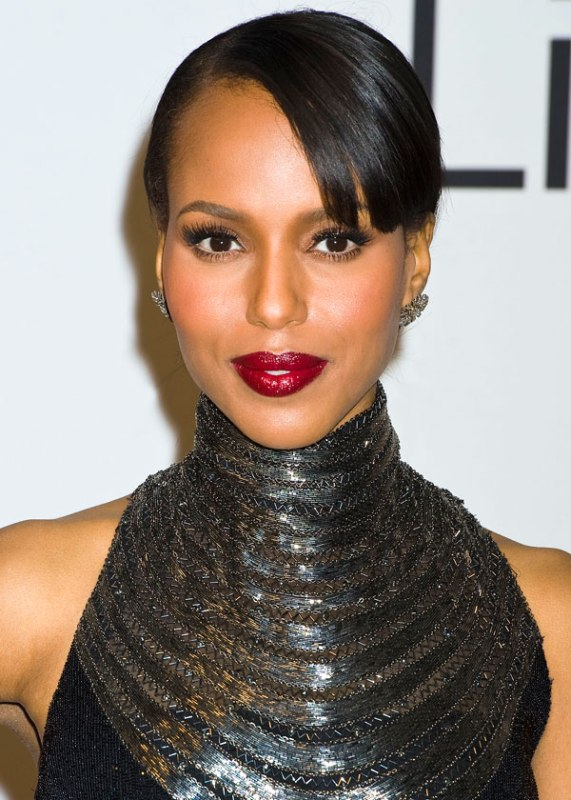 Kerry-Washington red lipstick