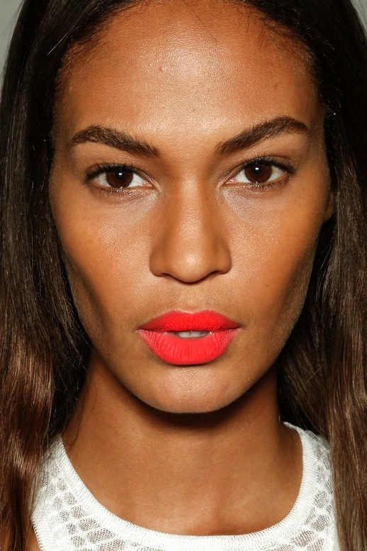 Joan smallsBright-Matte-Lip-Orange-Red-Lipstick-Bold-Brows-Backstage-Beauty-Missoni-SS-2013