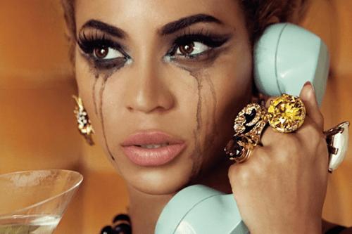 beyonce eyeliner crying