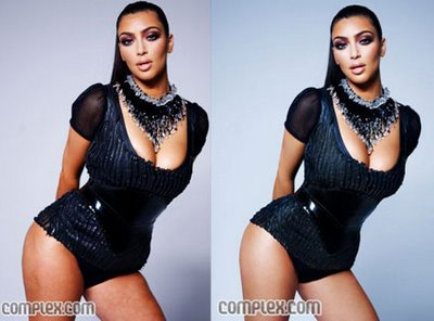 Kim Kardashian Hips -- Before and After Retouching Complex Magazine