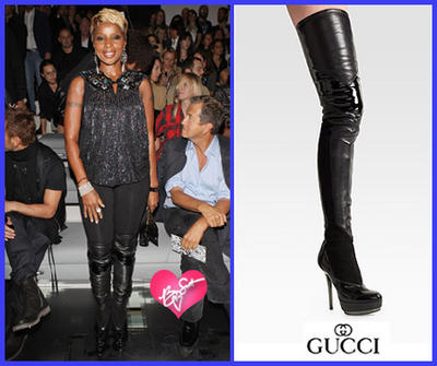 Mary J rocking Gucci Photo Courtesy of theinsider.com
