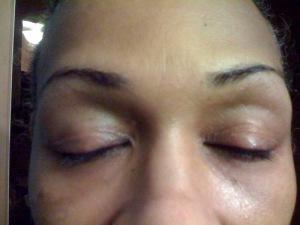 My eyelashes one week after neuLash