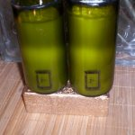 3 Piece Online Recycled Wine Bottle Candles