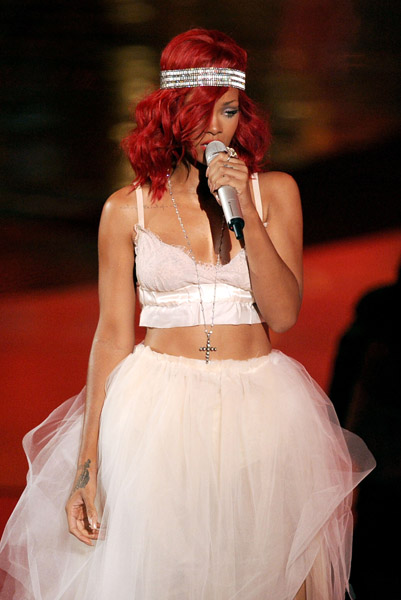 Rihanna MTV VMA's September 12, 2011 Gettty Images