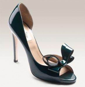 Valentino D'Orsay Emerald Patent Pump
