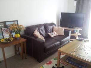 a nice and inviting living room after decluttering