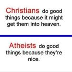 christians and atheist motivation to do good