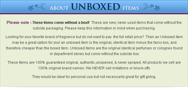 About Unboxed Items