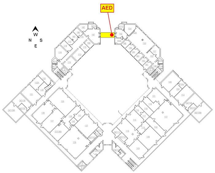 Automated External Defibrillator (AED) Locations: EBU2