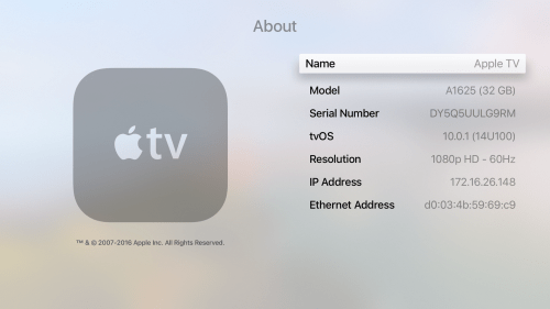 small resolution of ethernet address in settings general about in apple tv gen 4