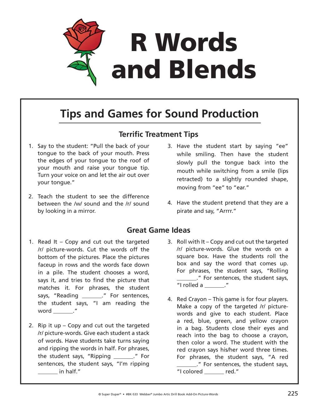 medium resolution of R/R Blends Worksheets - Webber Jumbo Artic Drill Book Vol 2 - Blink Session