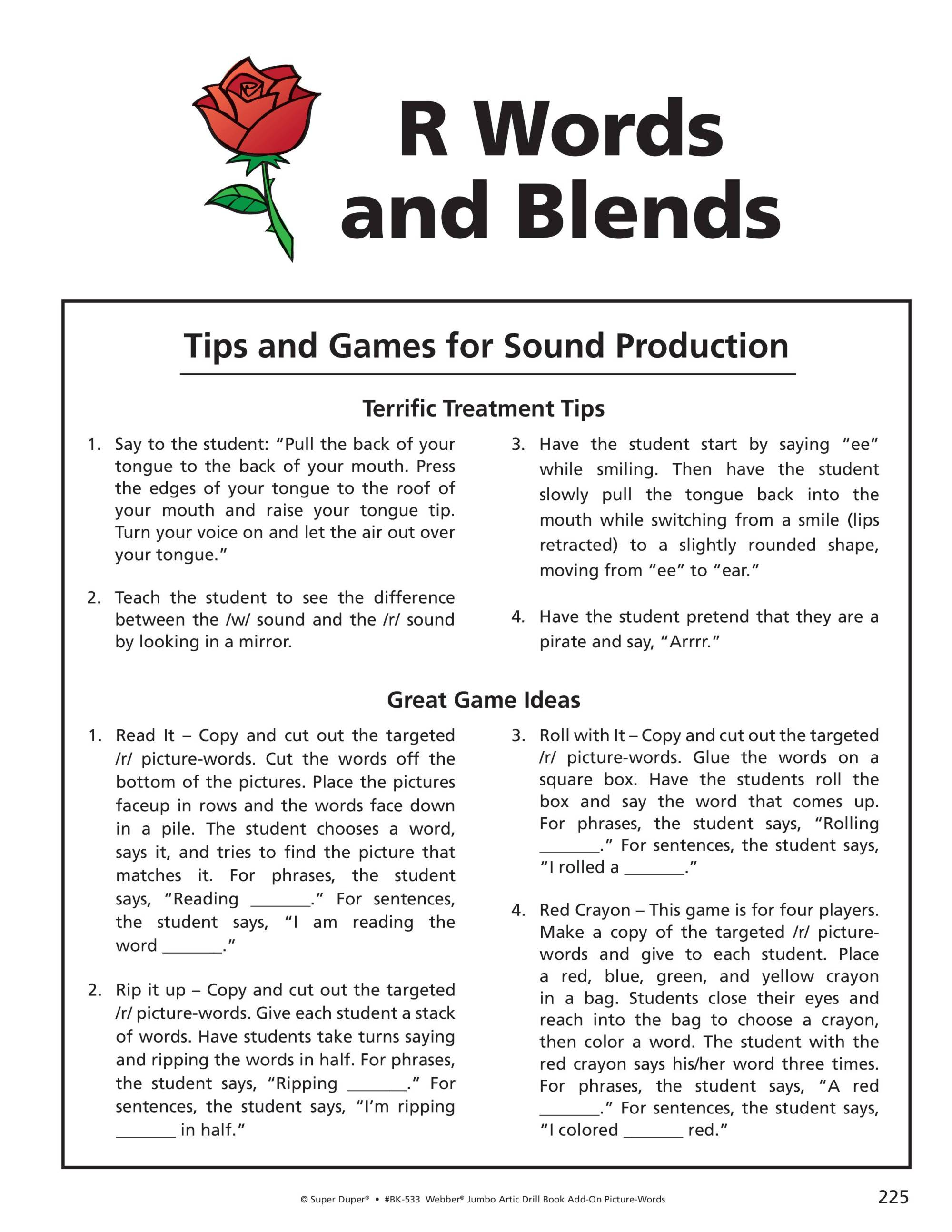 hight resolution of R/R Blends Worksheets - Webber Jumbo Artic Drill Book Vol 2 - Blink Session