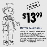 Mattel Saucy Makes Faces Doll Newspaper Ad