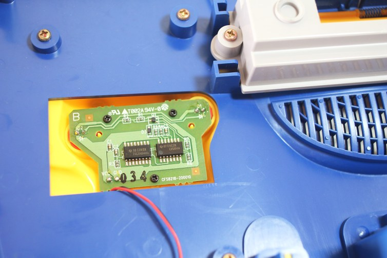 The controller board for Pikachu's cheek LEDs