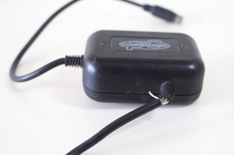 Exposed cable on a PC Engine Twin Commander controller