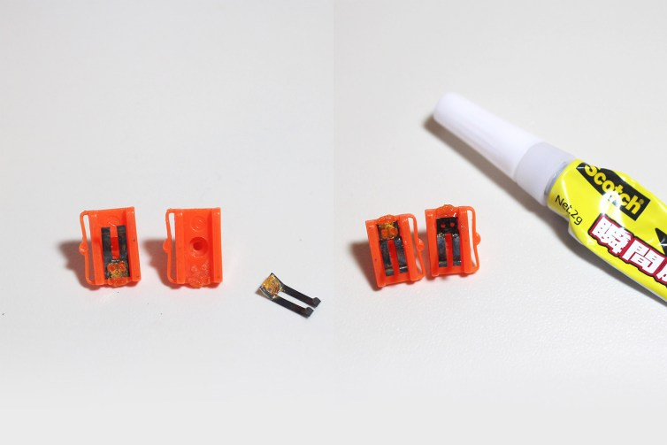 Super glue to the rescue on this turbo-fire button