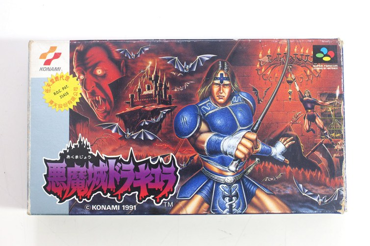 Nintendo Phuten sticker on imported Super Castlevania IV