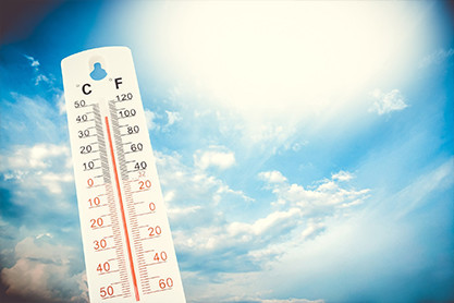 LA Weather termometer