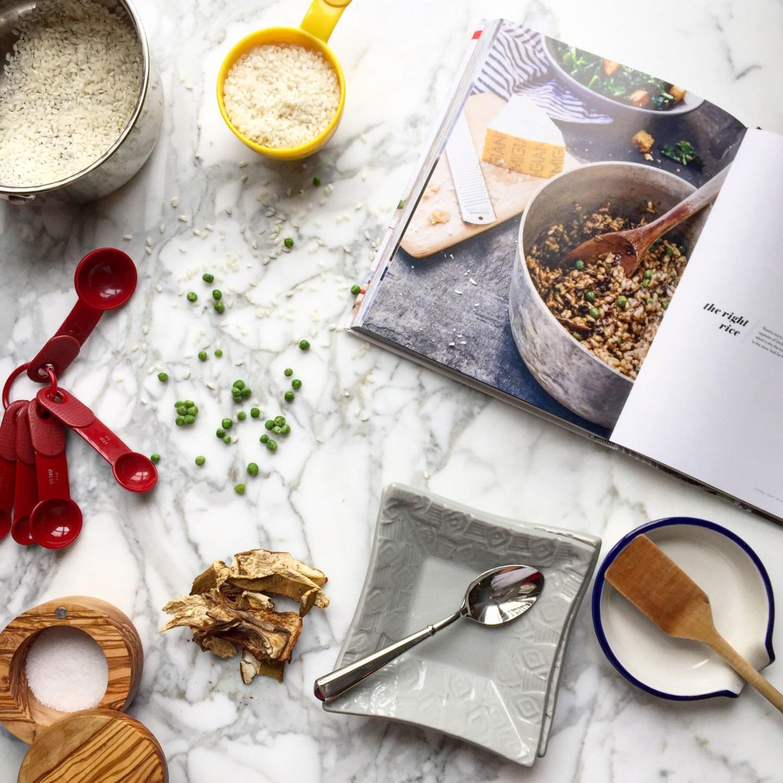 Risotto with Porcini Mushrooms & Peas