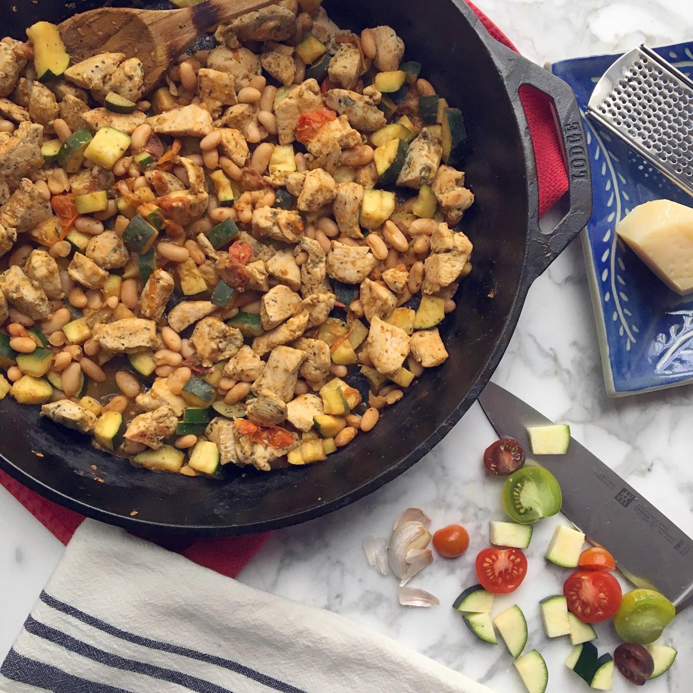 Italian Chicken & Vegetable Skillet