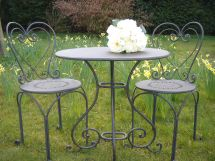 Black Heart Bistro Set Bliss And Bloom