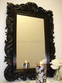 Black wall mirror   Bliss and Bloom Ltd